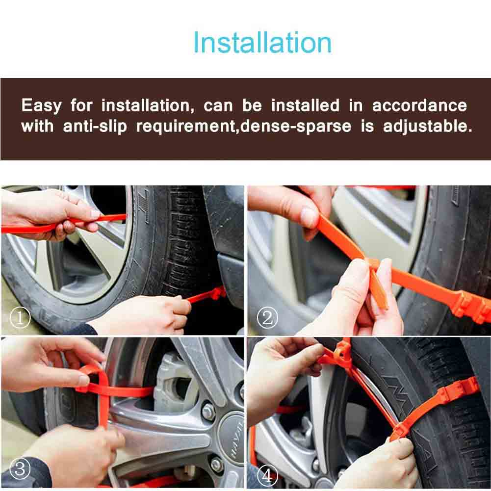 Simple Universal Fit Emergency Traction Aids Car SUV Anti-Slip Tire Snow Chains